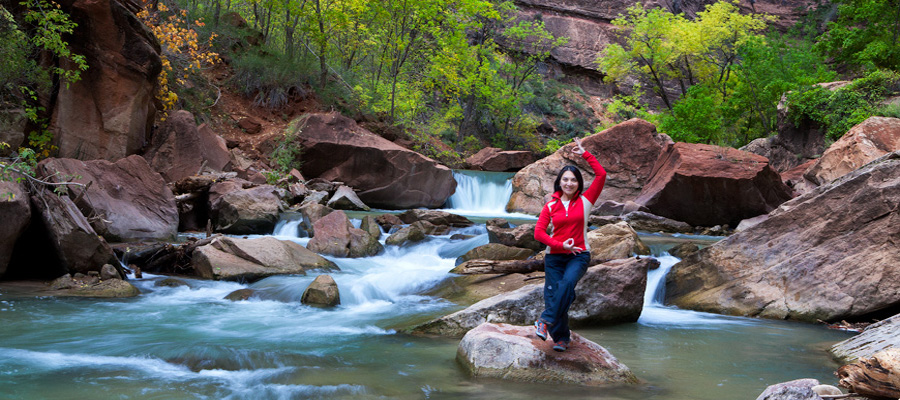Dancing Shiva, Riverside Trail - Zion National Park