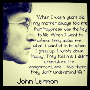 John Lennon_Happiness Quote & Image